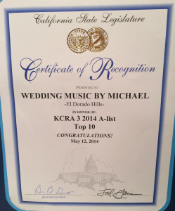 State Legislature Wed Music Award